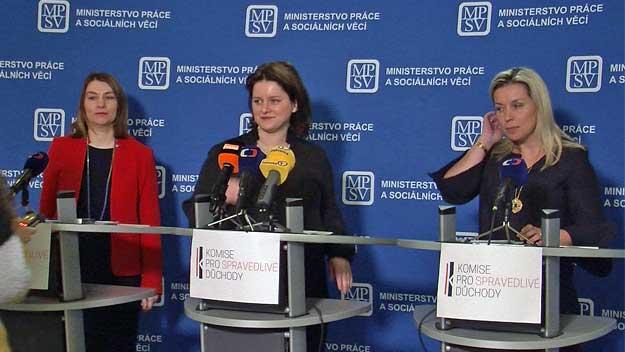 Ministryně Maláčová představila komisi pro spravedlivé důchody