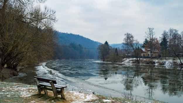 Ladův kraj nabízí osvěžující procházku malebnou zimní přírodou
